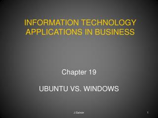 Chapter  19  UBUNTU VS. WINDOWS