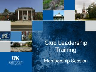 Club Leadership Training Membership Session