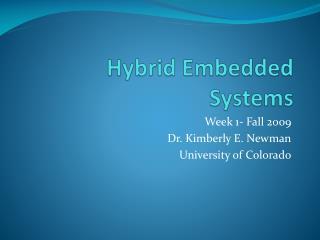 Hybrid Embedded Systems