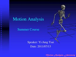 Motion Analysis Summer Course