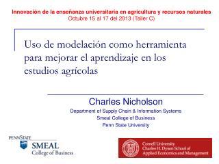 Uso  de  modelación como herramienta para mejorar  el  aprendizaje  en los  estudios agrícolas