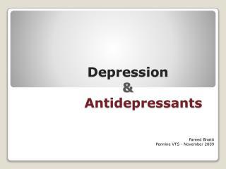depression         antidepressants