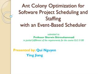 Ant Colony Optimization for Software Project Scheduling and Staffing with an Event-Based Scheduler