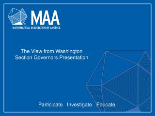 The View from Washington Section Governors Presentation