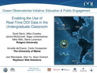 Ocean Observatories Initiative: Education & Public Engagement