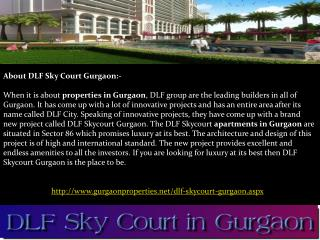 DLF Sky court in Gurgaon