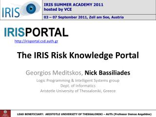 The IRIS Risk Knowledge Portal