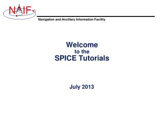 Welcome to the SPICE Tutorials