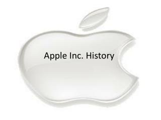 Apple  Inc.  History