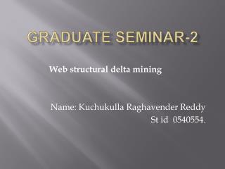 Graduate seminar-2