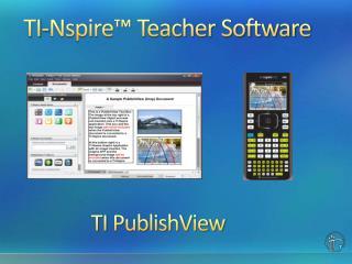 TI-Nspire™ Teacher Software