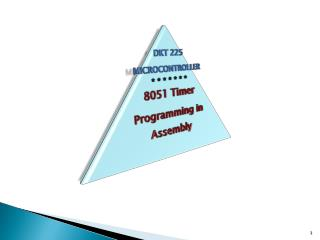 8051 Timers -- Basics