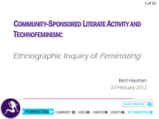 Ethnographic Inquiry of  Feministing