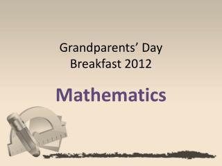 Grandparents' Day  Breakfast 2012