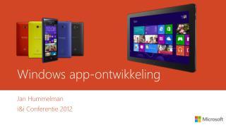Windows app- ontwikkeling