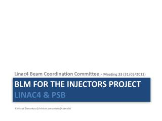 BLM for the Injectors project  LINAC4 & PSB