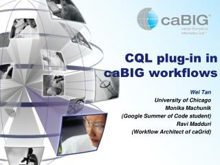 CQL plug-in in  caBIG  workflows