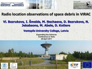 Radio  location observations of space debris in VIRAC