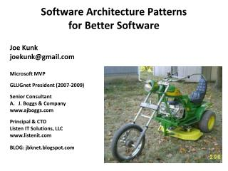 Software Architecture  Patterns for  Better Software