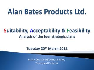 Tuesday 20 th  March 2012