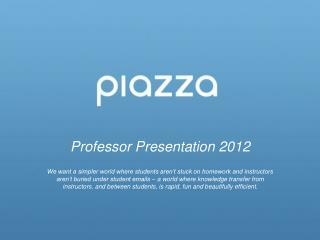 Professor Presentation 2012