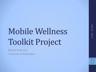 Mobile Wellness Toolkit Project