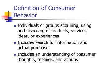 definition of consumer behavior