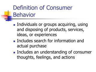 definition of consumer behavior