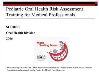 pediatric oral health risk assessment training for medical professionals
