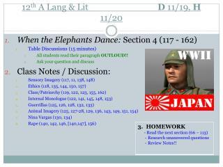 12 th  A Lang & Lit                       D  11 /19,  H 11/20