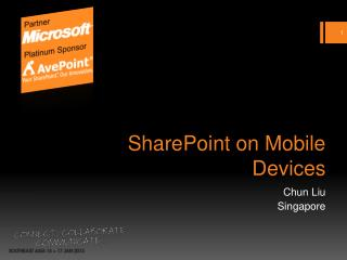 SharePoint on Mobile Devices