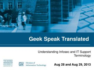 Geek Speak Translated