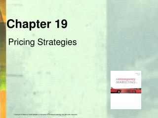Chapter 19 Pricing Strategies