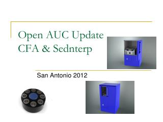 Open AUC Update CFA & Sednterp