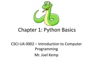 Chapter 1: Python Basics