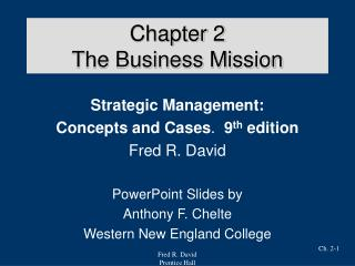 chapter 2 the business mission