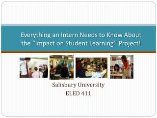 "Everything an Intern Needs to Know About the ""Impact on Student Learning"" Project!"