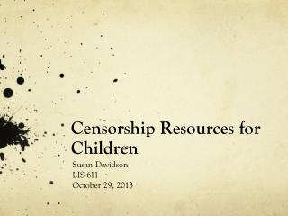 Censorship Resources for Children