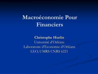 macro conomie pour financiers