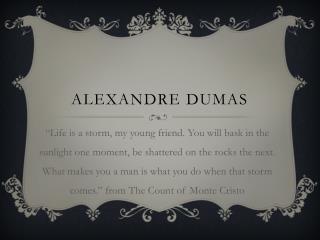 ALEXANDRE DUMAS