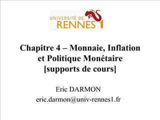chapitre 4   monnaie, inflation  et politique mon taire [supports de cours]