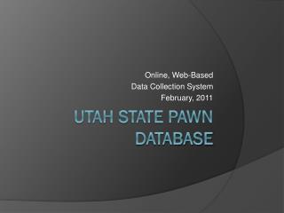 Utah State Pawn Database