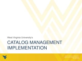 Catalog Management Implementation