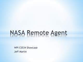 NASA Remote Agent