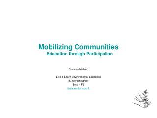 mobilizing communities     education through participation