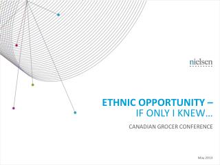 Ethnic opportunity � If only I knew�