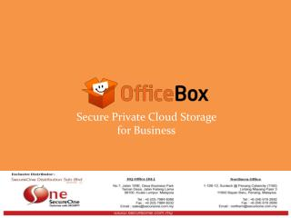 Secure Private Cloud Storage  for Business