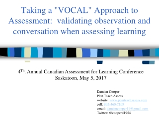 classroom assessment for learning: triangulation of evidence