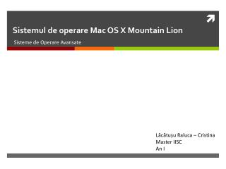 Sistemul  de  operare  Mac OS X Mountain  Lion