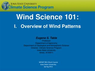 Wind Science 101: I. Overview of Wind Patterns
